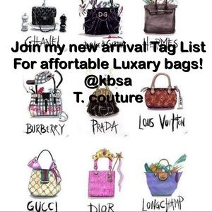 Be the first  to know when designer bags are in
